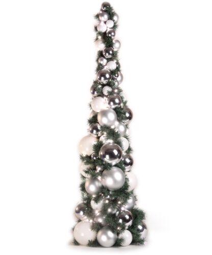 Exklusiver Kugelbaum 120cm Klar Silberfarben-0