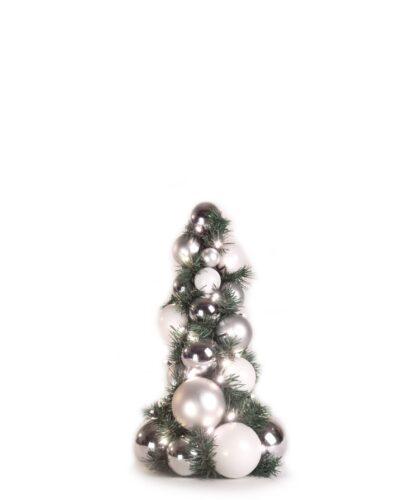 Exklusiver Kugelbaum 40cm Klar Silberfarben-0