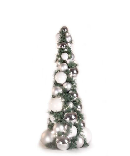 Exklusiver Kugelbaum 80cm Klar Silberfarben-0