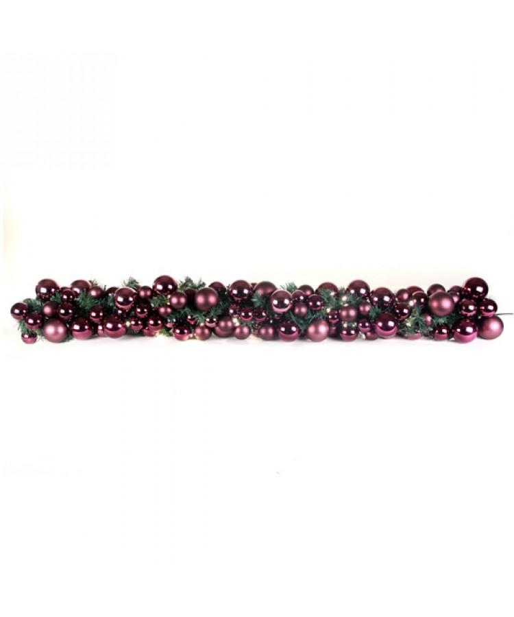 Exklusive Girlande 200cm Violette - Milka-0