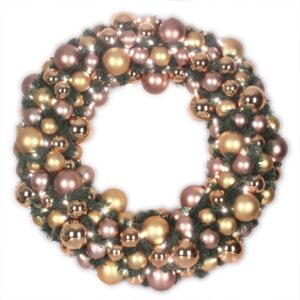 Luxury Wreath Golden Mocca 75 cm-0