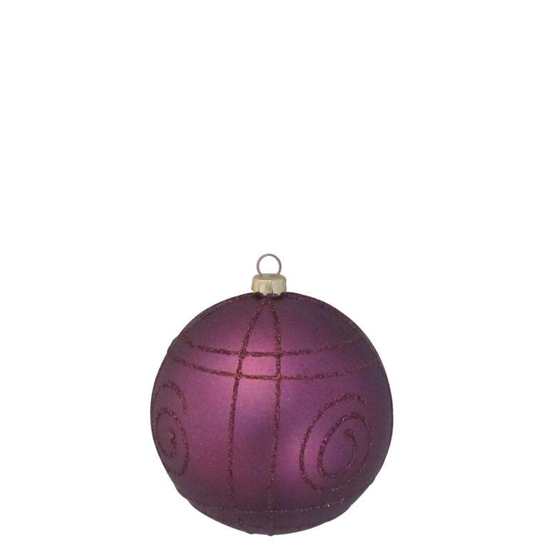 Auswahl von 8cm Weihnachtskugeln, Violette - Milka-1531
